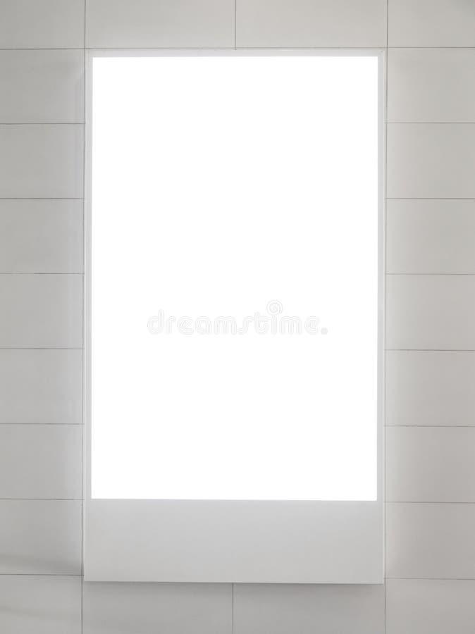 Quadro de avisos vertical em branco fotografia de stock