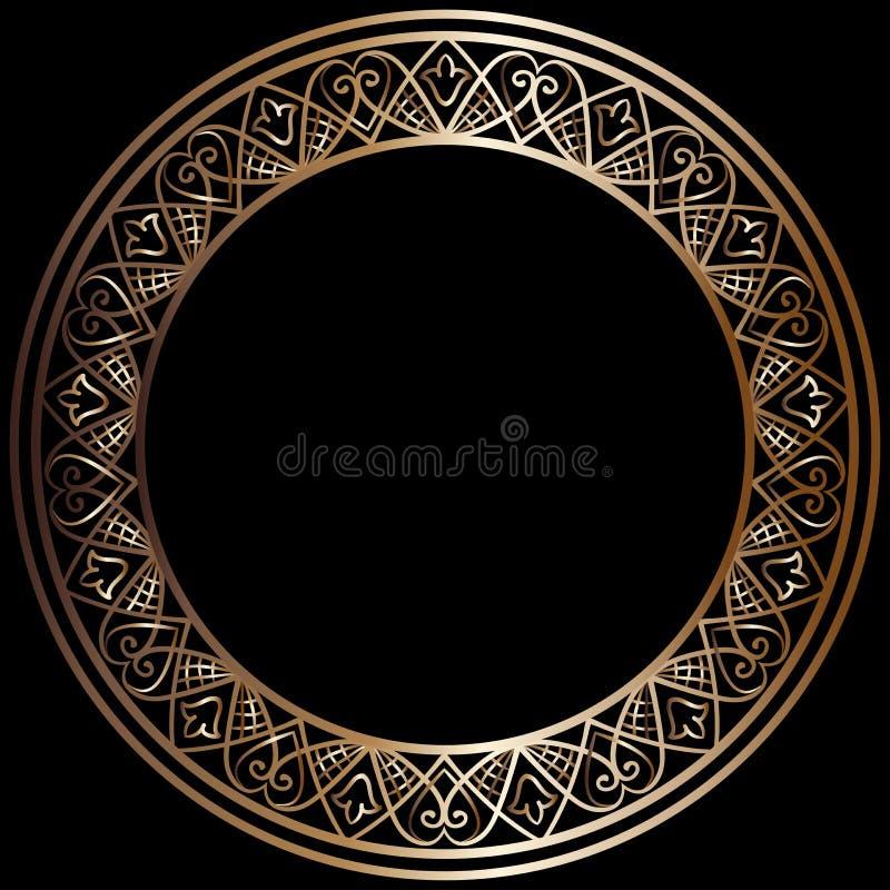 Quadro de bronze redondo ilustração royalty free