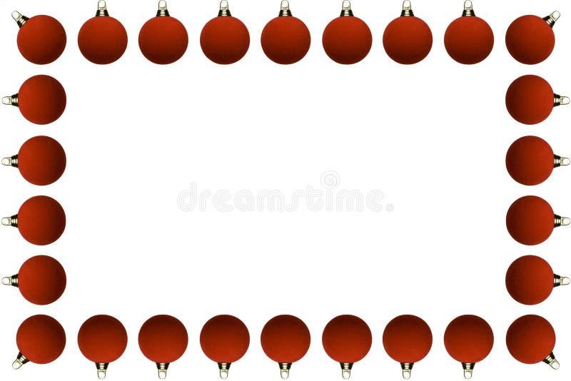 Quadro de esferas do Natal fotos de stock royalty free