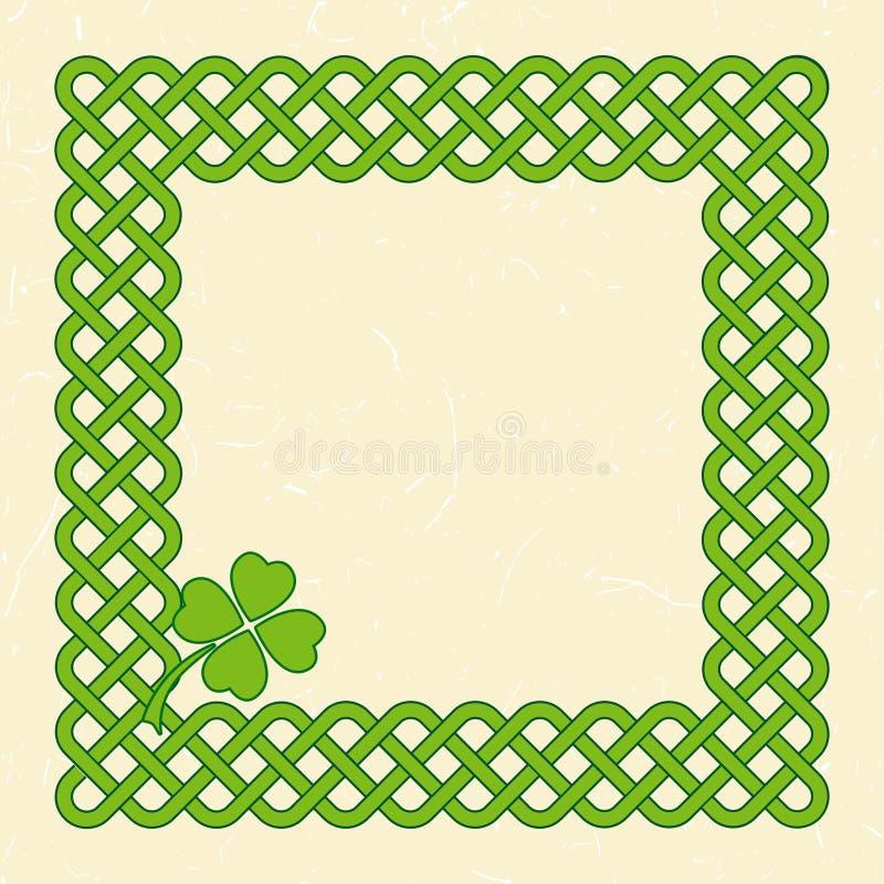 Quadro de estilo celta verde ilustração royalty free
