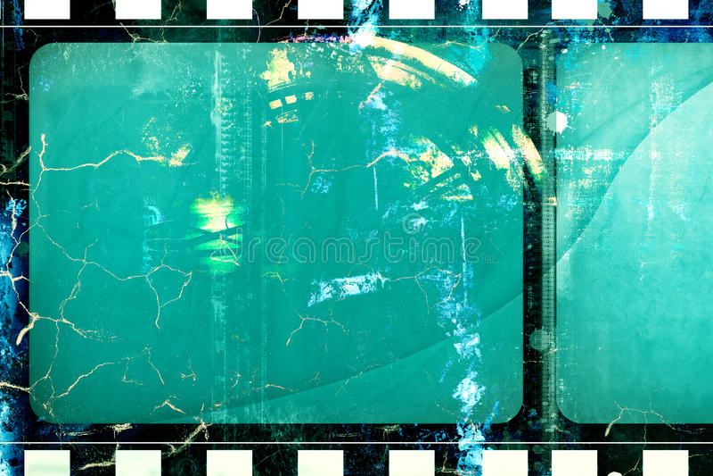 Quadro de filme do Grunge ilustração stock