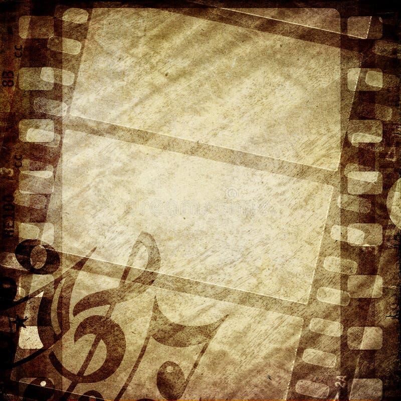 Quadro de filme do Grunge ilustração do vetor