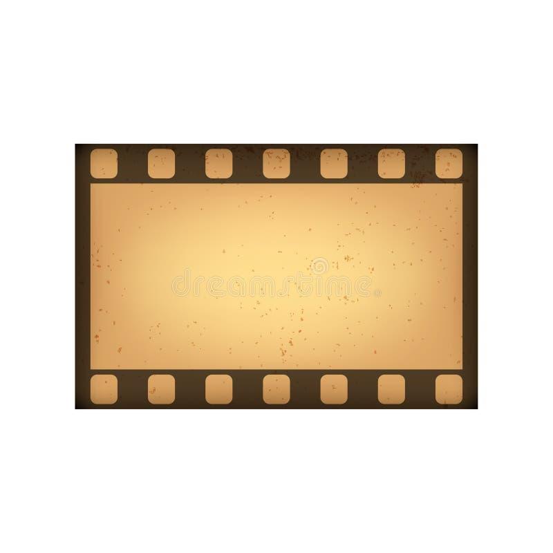 Quadro de filme retro do estilo do vetor Frame do vintage para seu projeto Isolado no fundo branco ilustração stock
