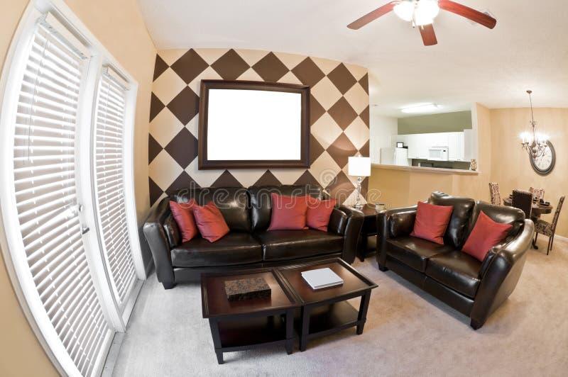Quadro de Front Area With Blank Picture do apartamento imagens de stock royalty free