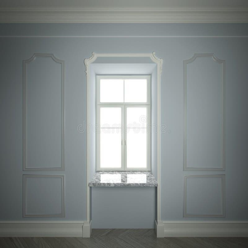 Quadro de janela clássico ilustração stock