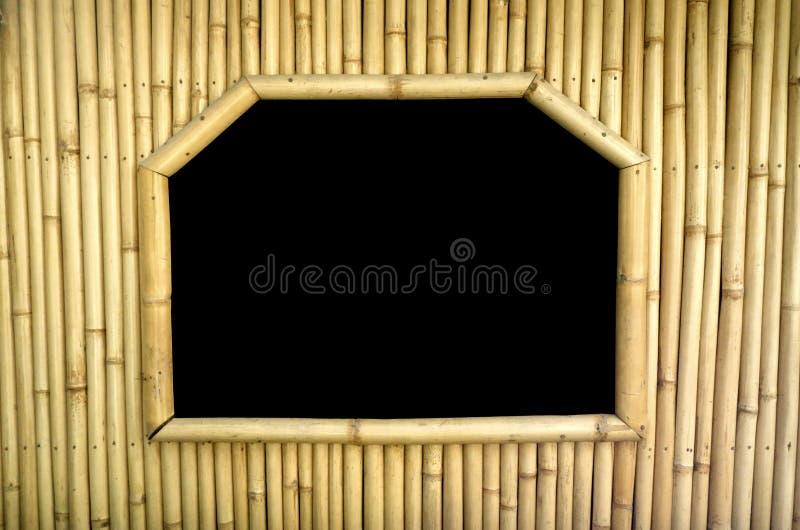 Quadro de janela de bambu imagem de stock royalty free