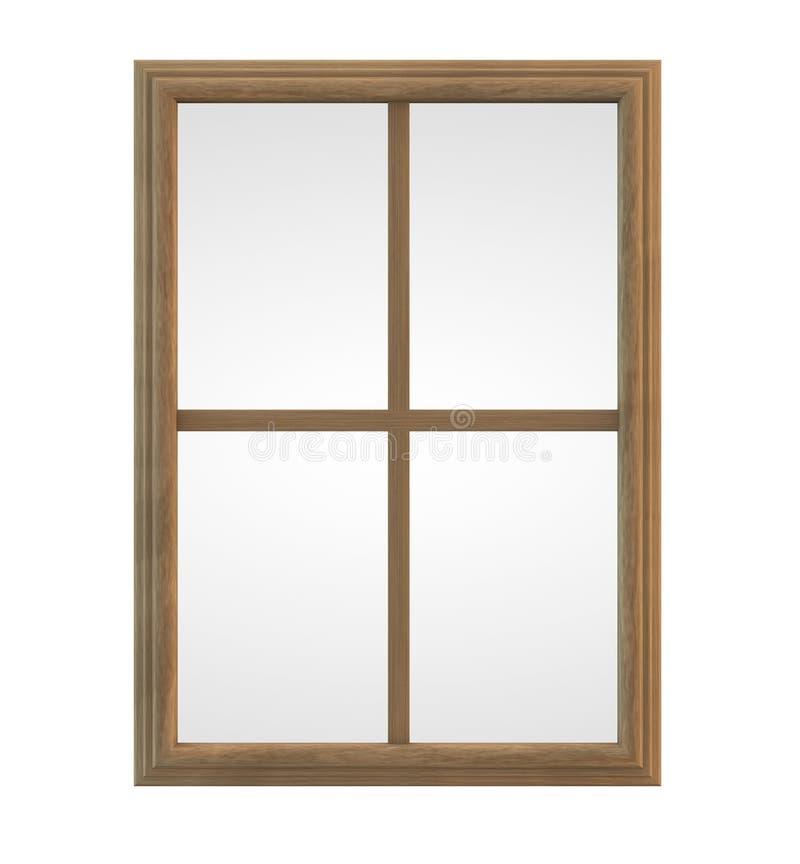 Quadro de janela de madeira ilustração stock