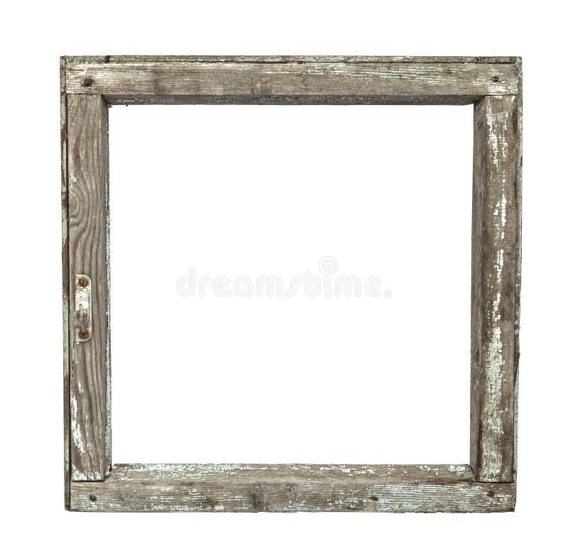 Quadro de janela de madeira grunged muito velho fotografia de stock royalty free