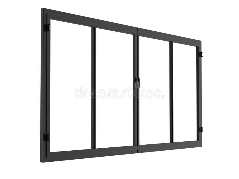 Quadro de janela isolado no branco ilustração do vetor