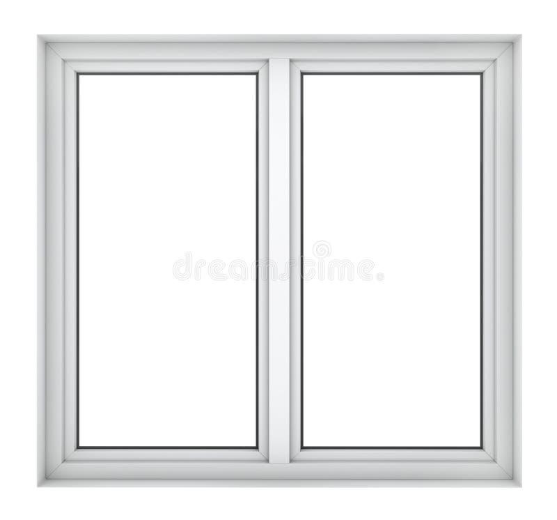 Quadro de janela plástico fotografia de stock royalty free