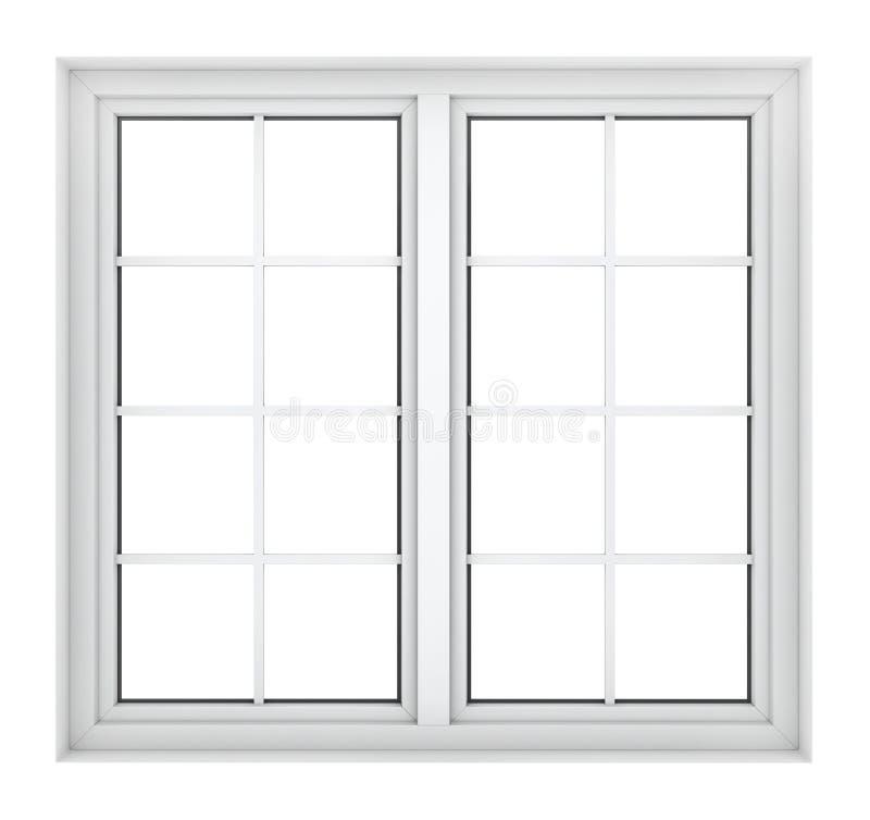 Quadro de janela plástico fotografia de stock