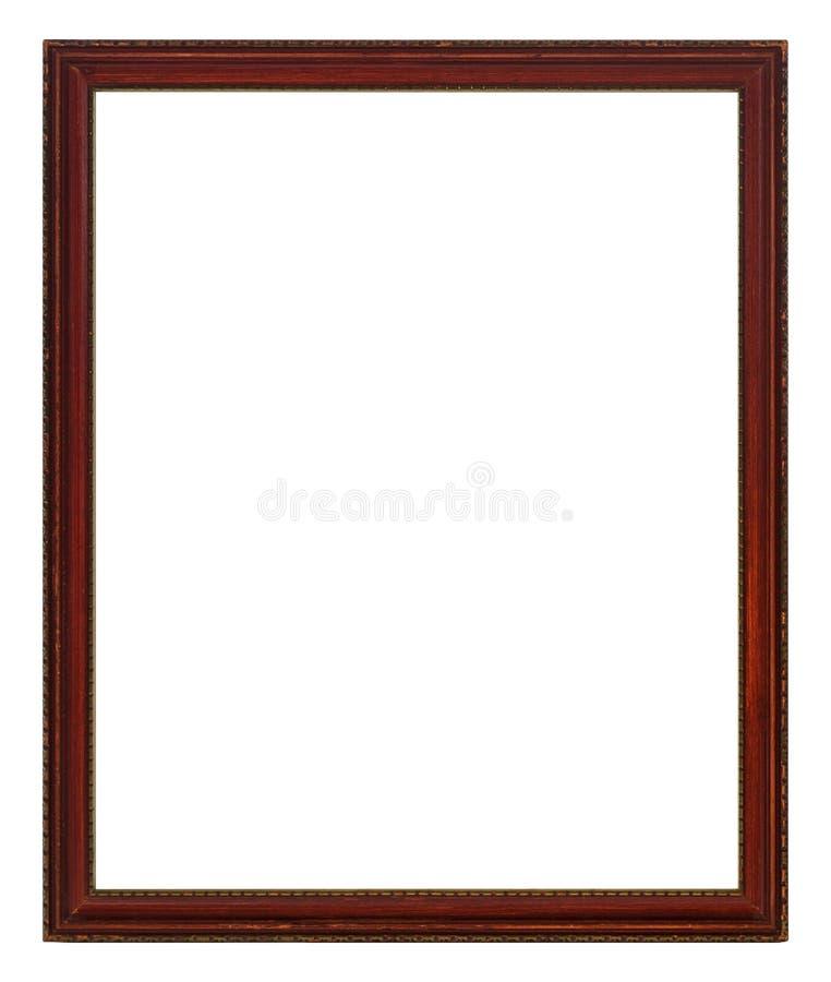 Quadro de madeira antigo para fotos e arte foto de stock royalty free