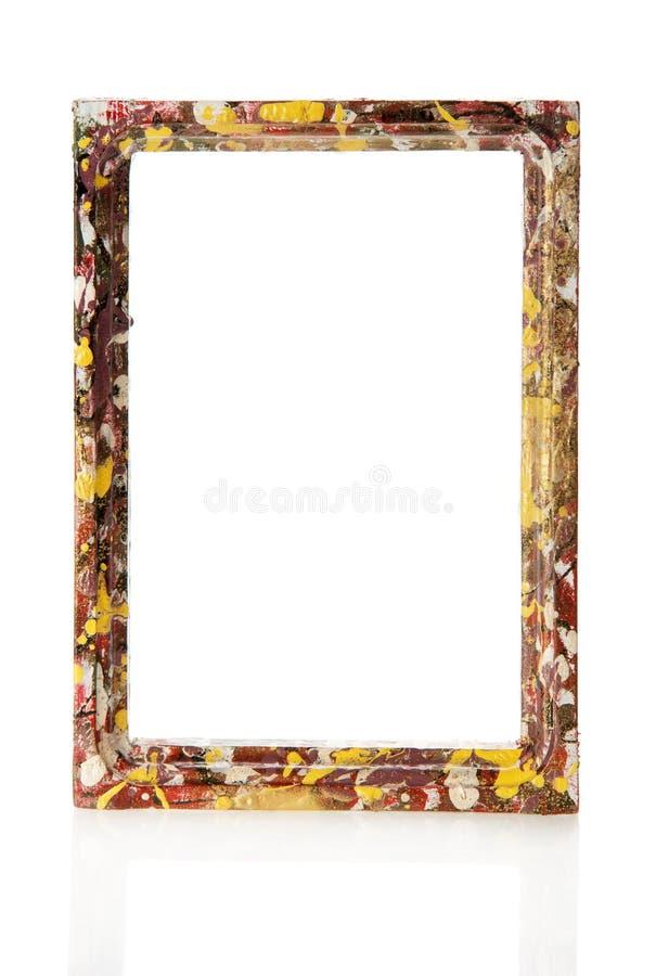 Quadro de madeira colorido para imagens ou as fotos imagens de stock