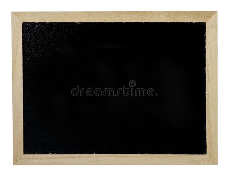 Quadro de madeira com o fundo preto do quadro-negro fotos de stock