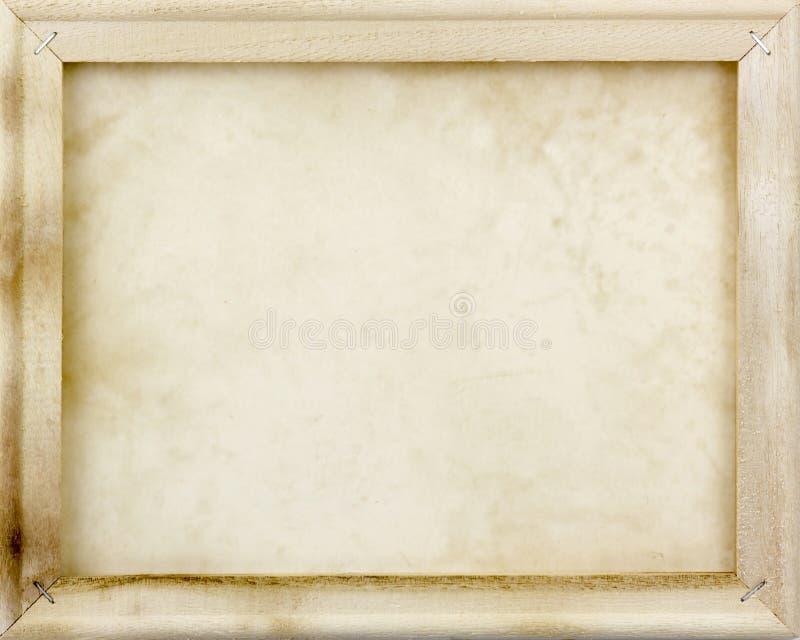 Quadro de madeira com papel velho fotografia de stock royalty free