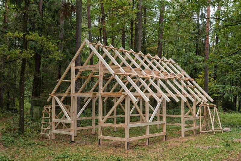 Quadro de madeira da casa imagem de stock