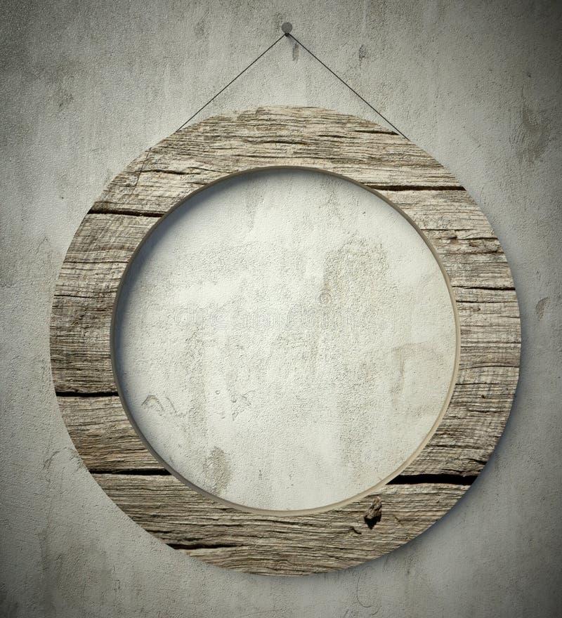 Quadro de madeira do círculo velho simples, fundo do vintage imagem de stock royalty free