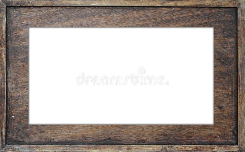 Quadro de madeira isolado imagens de stock
