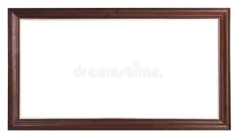 Quadro de madeira marrom velho foto de stock royalty free