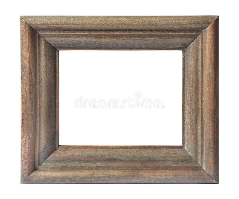 Quadro de madeira no estilo do vintage isolado no fundo branco imagem de stock royalty free