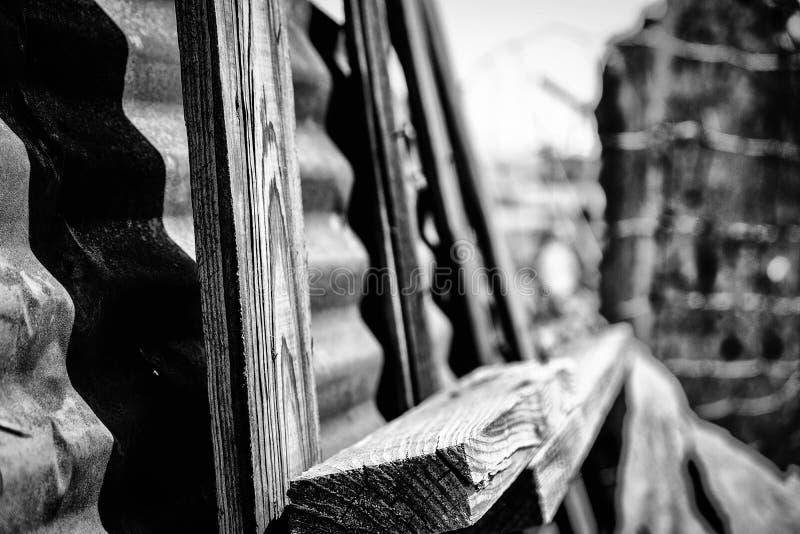 Quadro de madeira preto e branco foto de stock royalty free