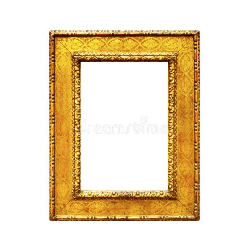 Quadro de madeira rústico velho isolado no branco fotografia de stock