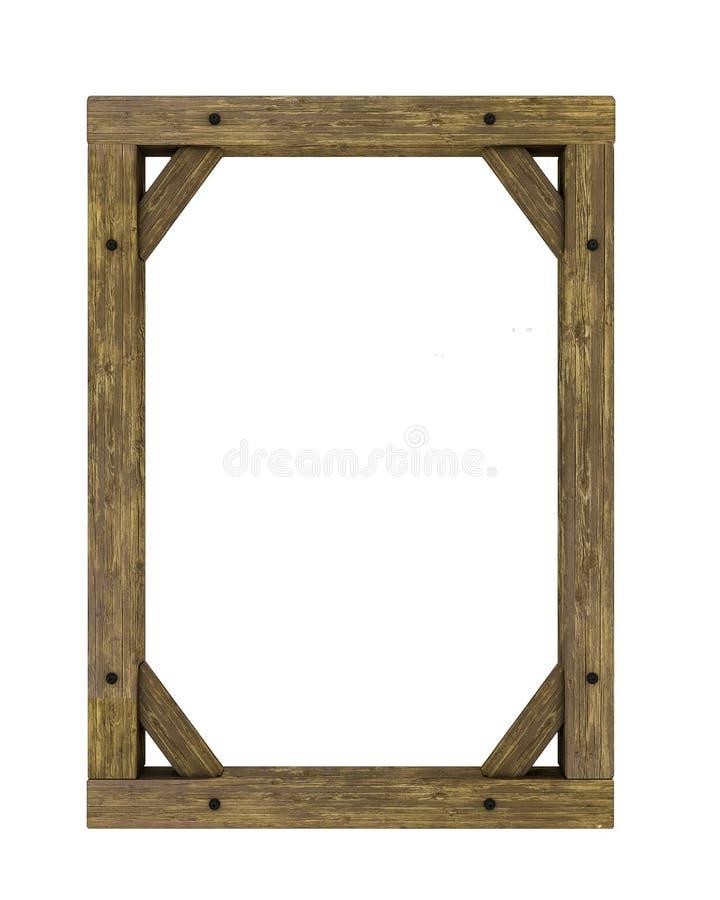 Quadro de madeira vazio ilustração royalty free