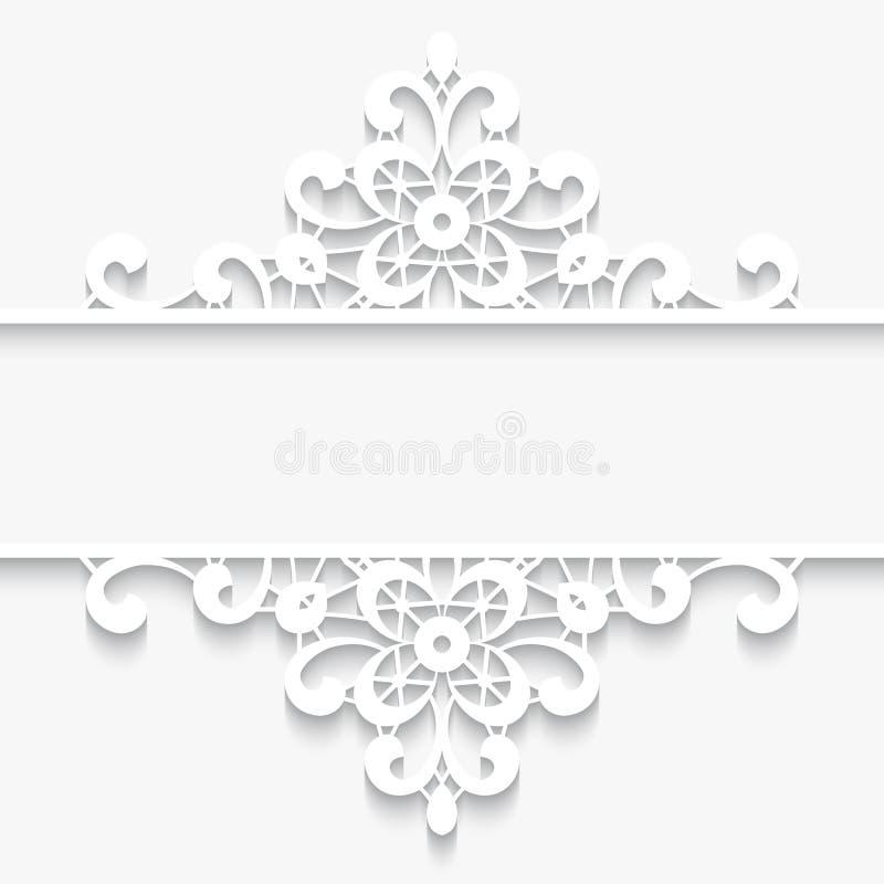 Quadro de papel do divisor do laço ilustração royalty free