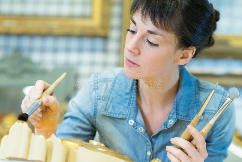 Quadro de pintura de mulher imagens de stock royalty free