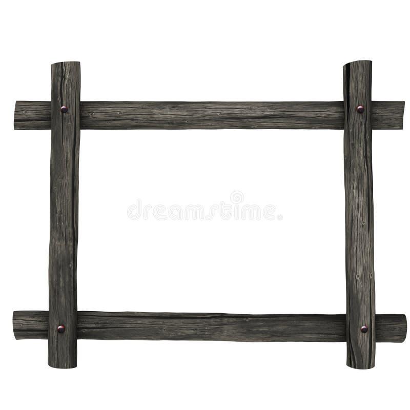 Quadro de placas de madeira ilustração stock