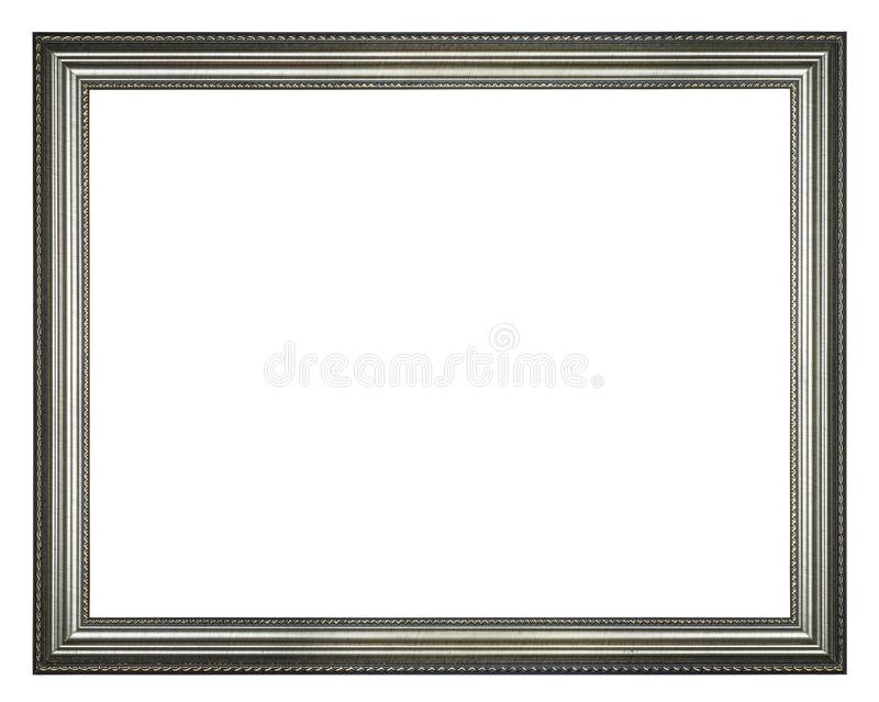 Quadro de prata do retângulo foto de stock royalty free