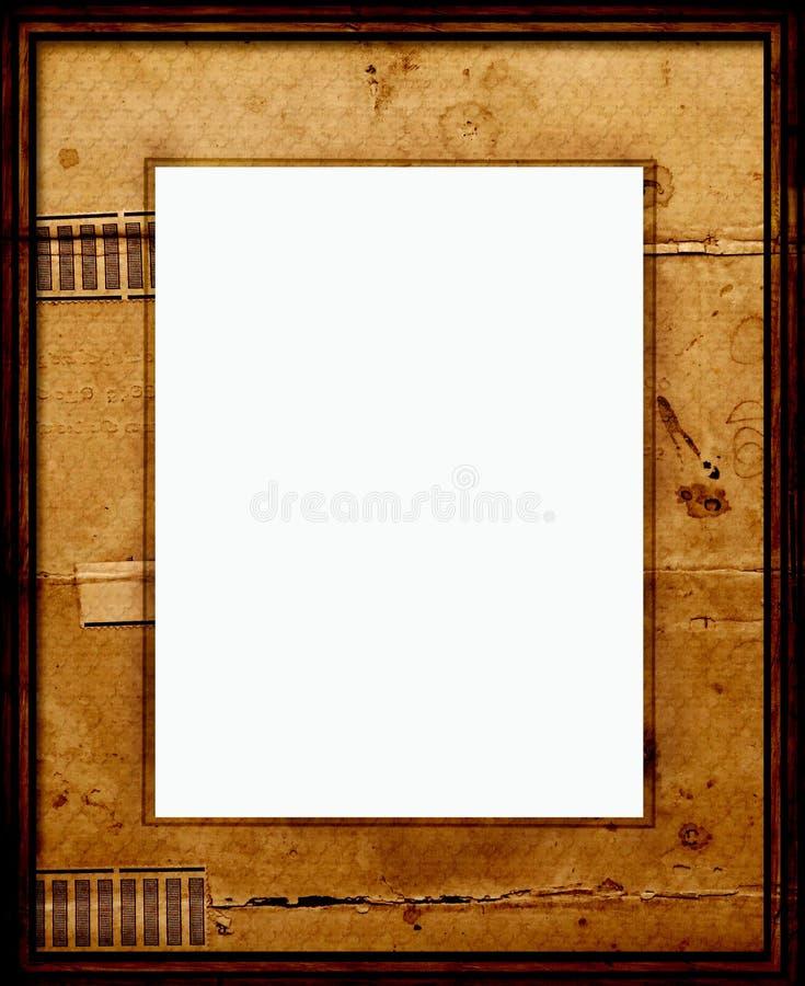 Quadro de retrato velho com montagem ilustração stock