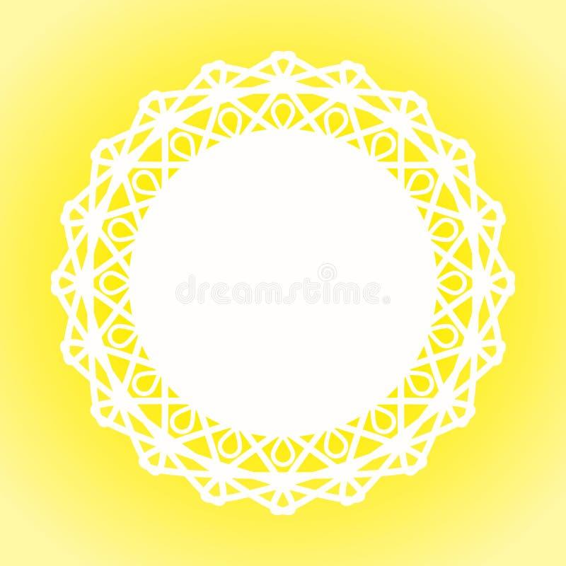 Quadro de Sunny Lace Doily Border ilustração do vetor