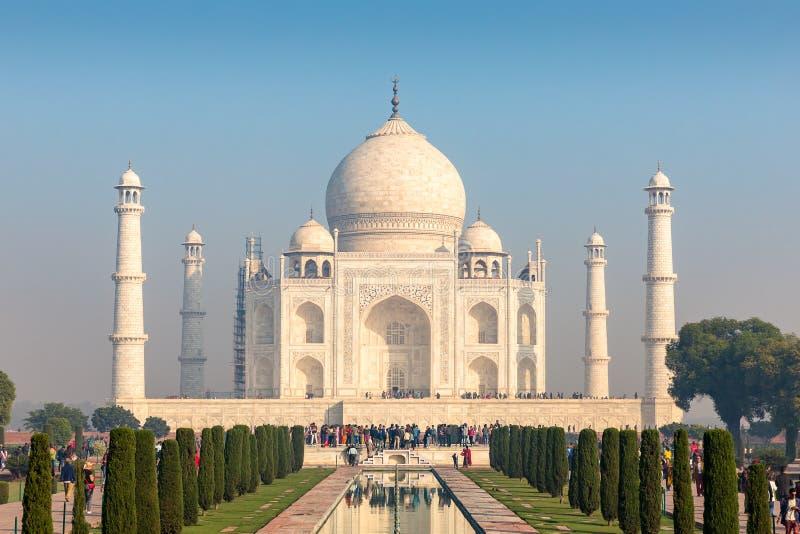 Quadro de Taj Mahal, Agra de quatro minaretes, Uttar Pradesh, Índia fotografia de stock royalty free