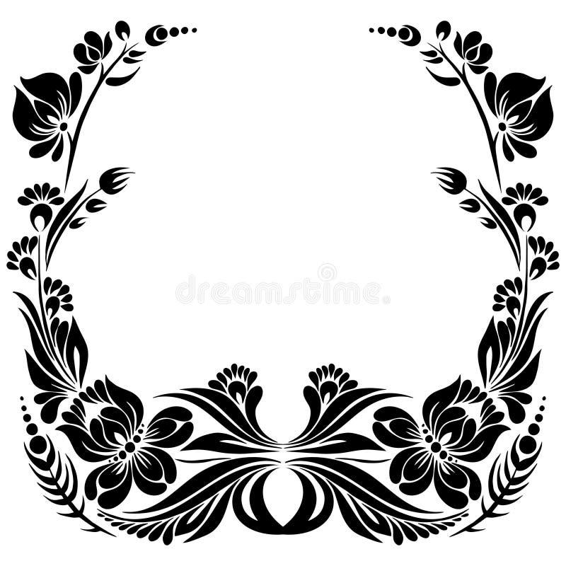 Quadro decorativo ilustração royalty free