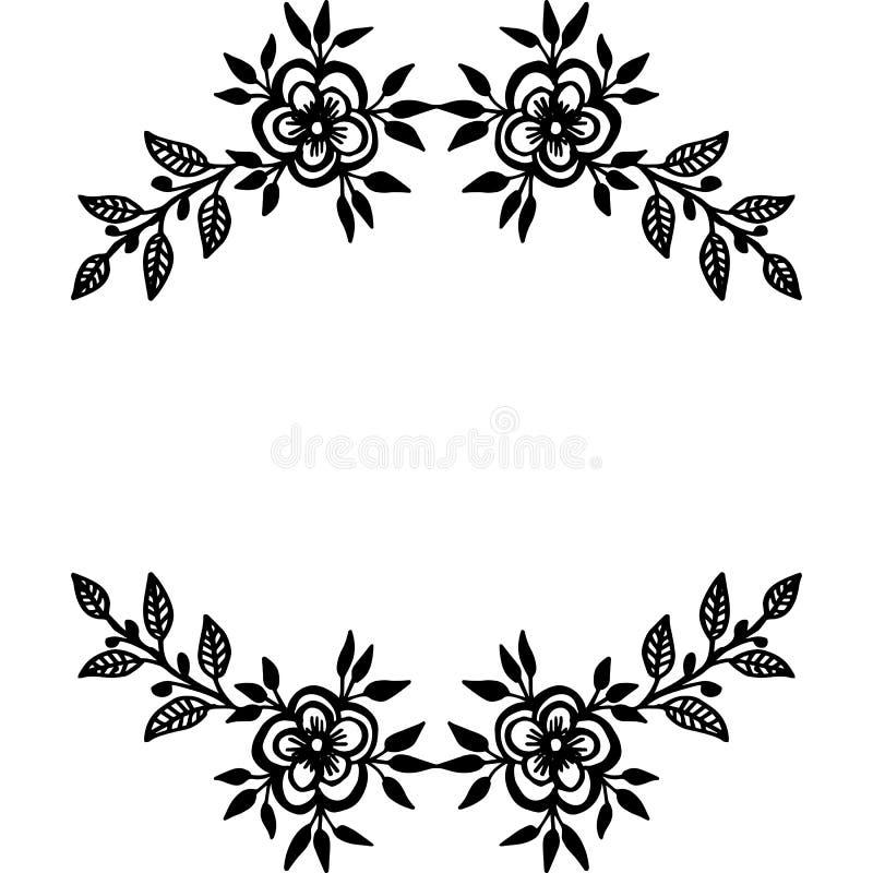 Quadro decorativo da flor da ilustração do vetor para o ornamnet moderno ilustração royalty free