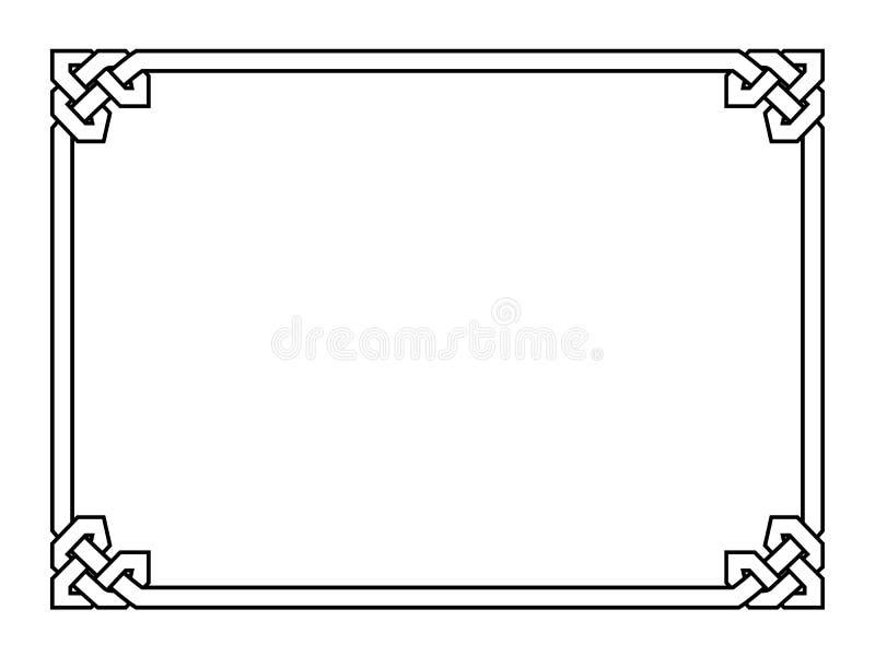 Quadro decorativo decorativo do preto gótico do estilo ilustração stock