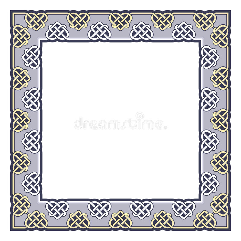 Quadro decorativo em de estilo celta ilustração royalty free