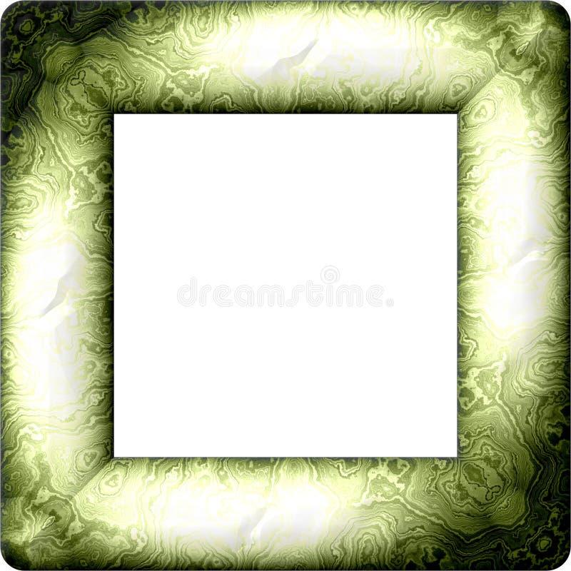 Quadro decorativo retro maçante verde desvanecido ilustração do vetor