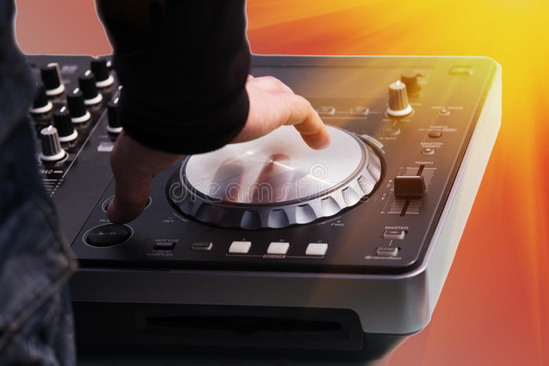 Quadro di controllo di musica del DJ immagine stock libera da diritti