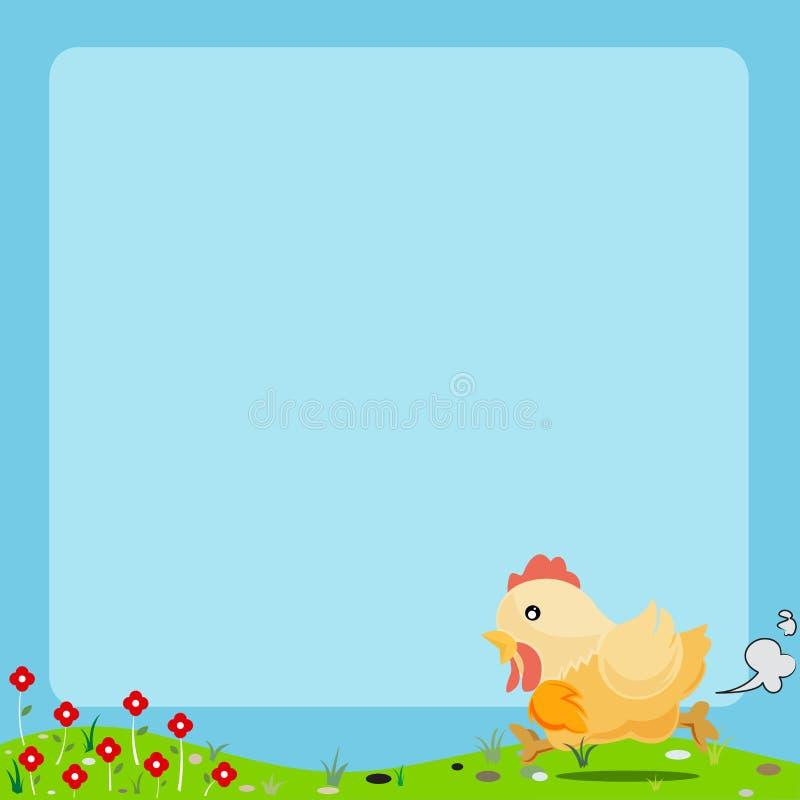 Quadro do animal dos desenhos animados ilustração stock