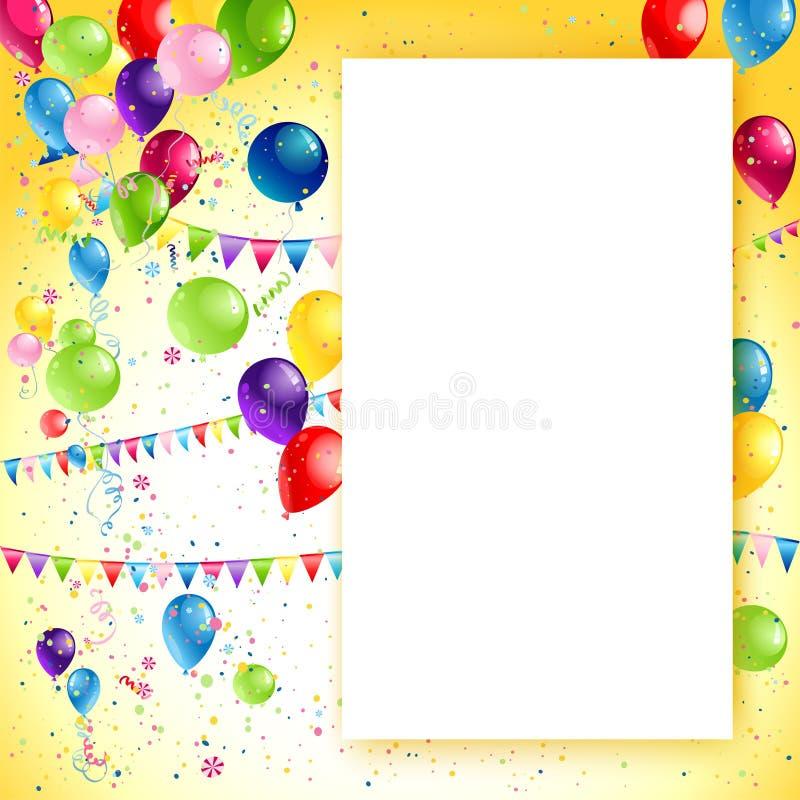 Quadro do aniversário do feriado ilustração do vetor