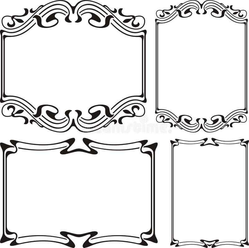Quadro do art deco - preto & branco ilustração royalty free