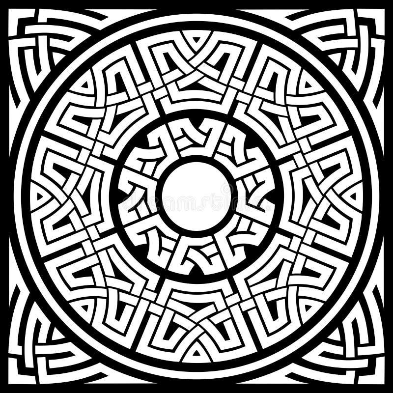 Quadro do céltico do círculo ilustração stock