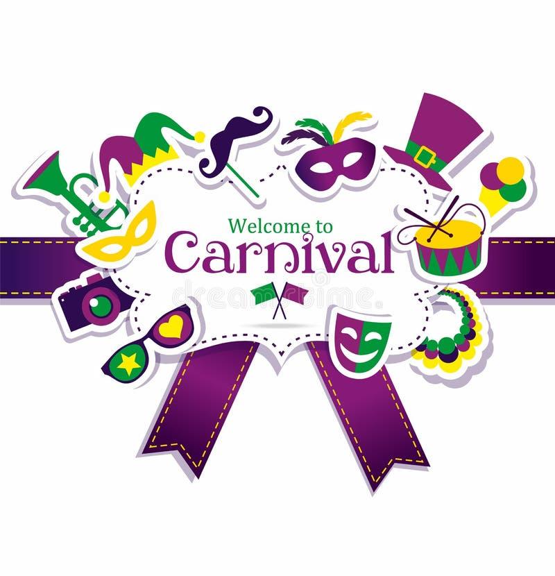 Quadro do carnaval ilustração stock