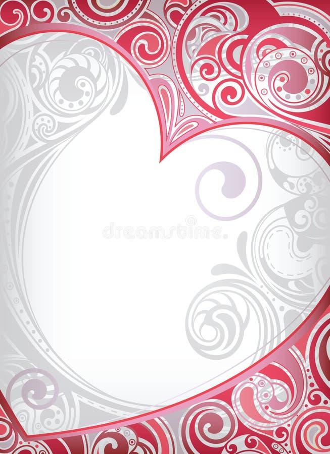 Quadro do coração dos Valentim ilustração stock