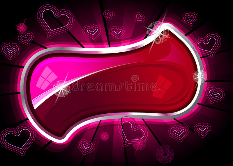 Quadro do cromo do coração ilustração royalty free