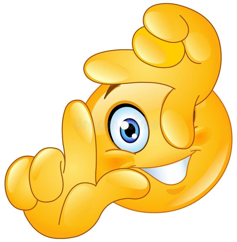 Quadro do emoticon dos dedos ilustração royalty free