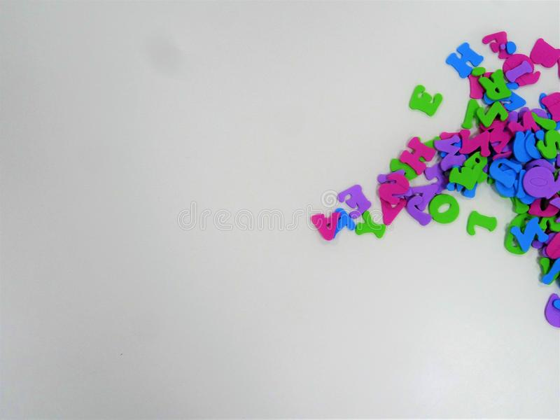 Quadro do espaço das letras para escrever imagem de stock