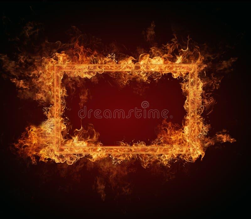 Quadro do fogo fotografia de stock royalty free